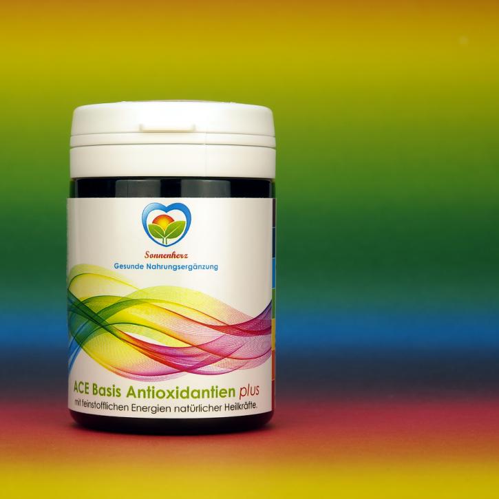 WELTNEUHEIT: ACE & Selen Basis Antioxidantien- Kapseln plus Energien natürlicher Heilkräfte von Sonnenherz - 100 Kapseln