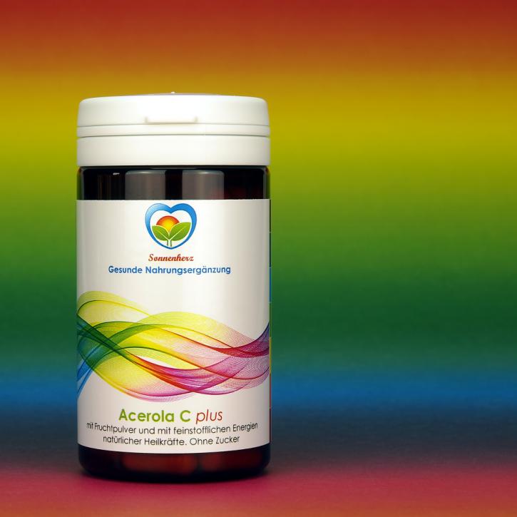 WELTNEUHEIT: Vitamin C aus der Acerola-Kirsche plus Energien natürlicher Heilkräfte von Sonnenherz - 100 Lutschtabletten