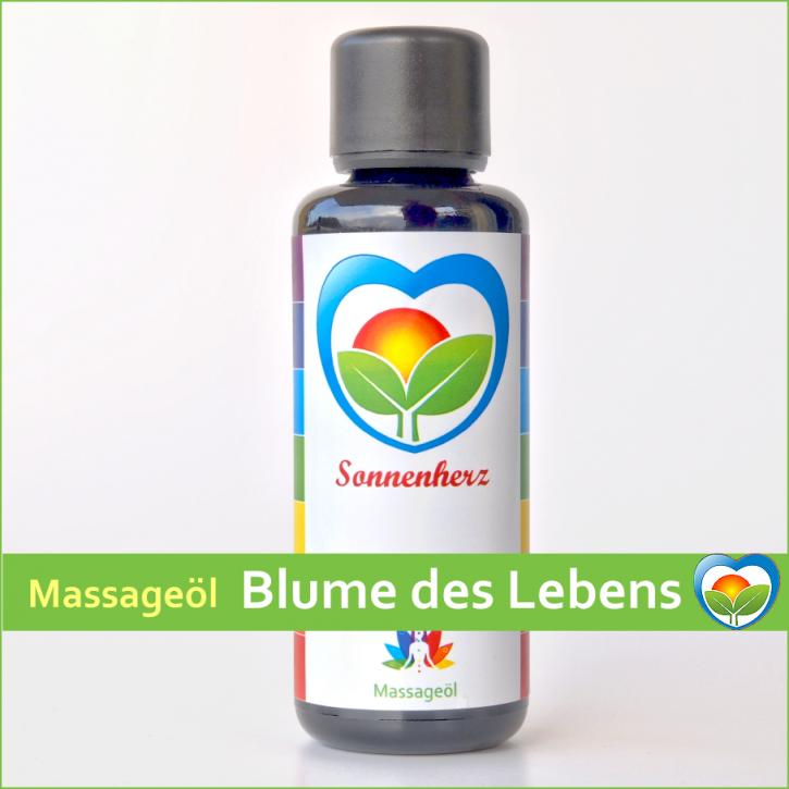 Blume des Lebens - Energetisches Massageöl von Sonnenherz - 50ml