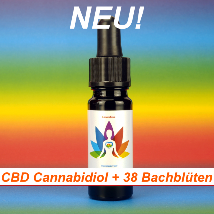 CBD Cannabidiol Hanföl Extrakt + 38 Bachblüten 20 ml - NEU von Sonnenherz