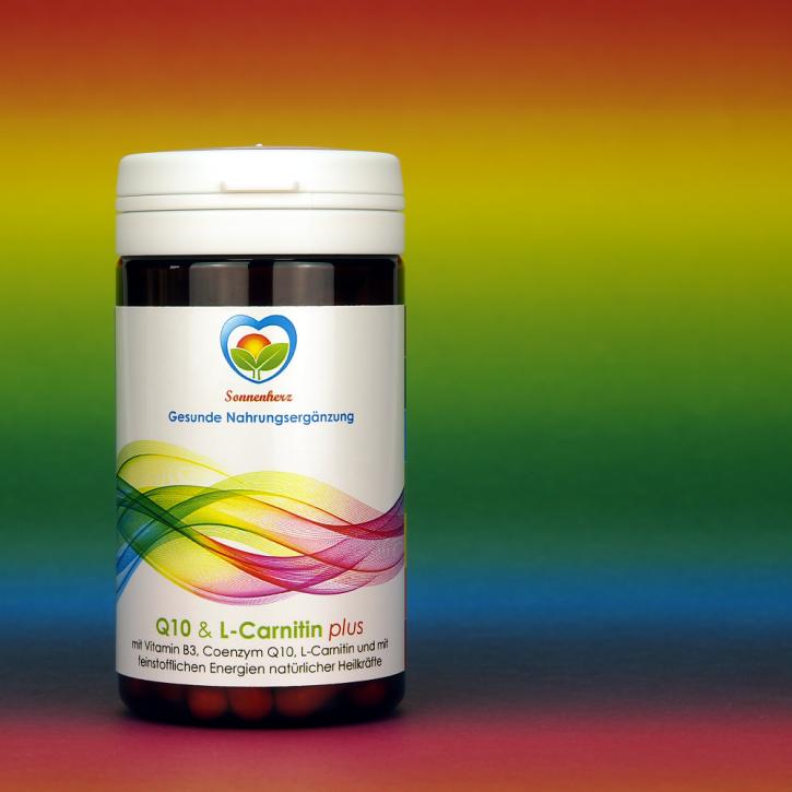 WELTNEUHEIT: Coenzym Q10 & L-Carnitin Kombi- Kapseln plus Energien natürlicher Heilkräfte von Sonnenherz - 90 Kapseln