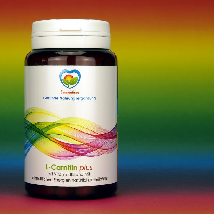 WELTNEUHEIT: L-Carnitin 400 plus Energien natürlicher Heilkräfte von Sonnenherz - 90 Kapseln