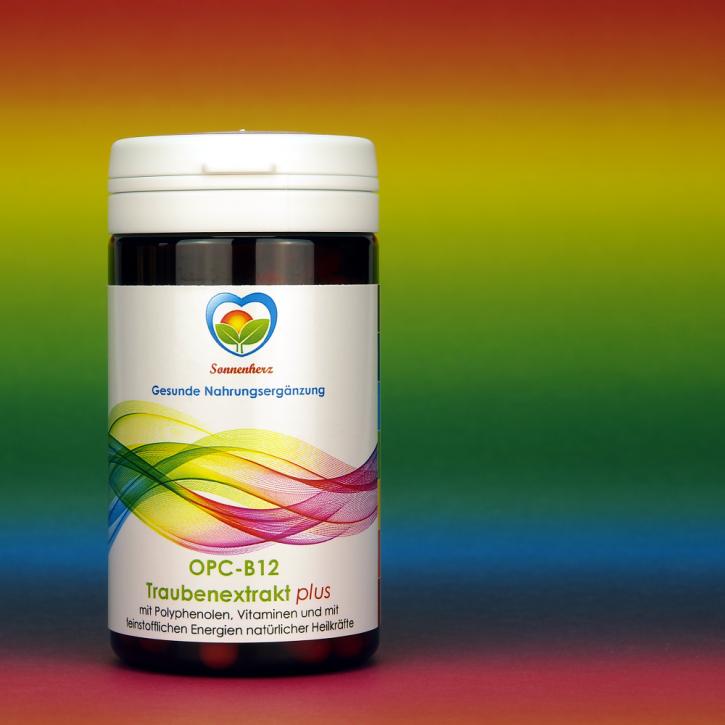 WELTNEUHEIT: OPC B12 Traubenextrakt plus Energien natürlicher Heilkräfte von Sonnenherz - 100 Kapseln