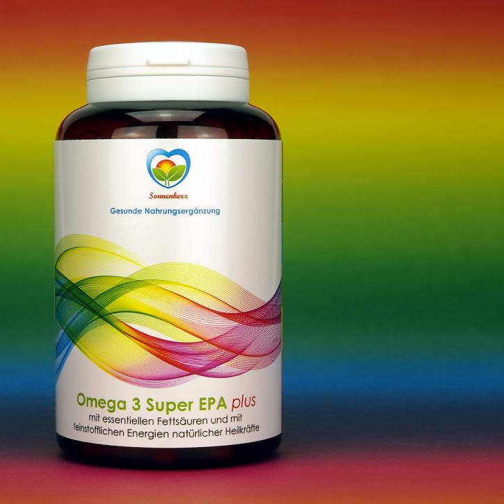 WELTNEUHEIT: Omega-3 Super EPA plus Energien natürlicher Heilkräfte von Sonnenherz - 90 Kapseln