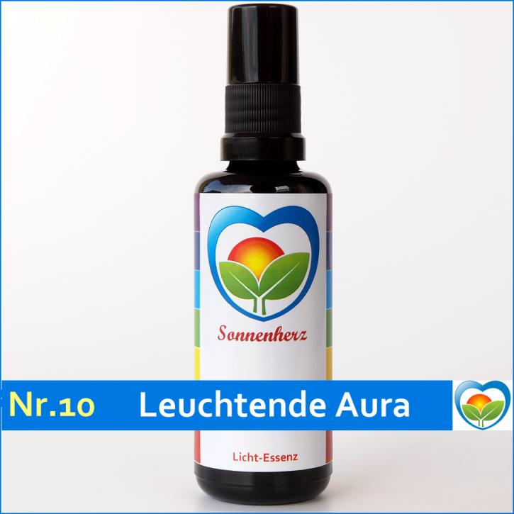 """Lichtessenz Nr. 10 """"Leuchtende Aura"""" von Sonnenherz - Aura Spray"""