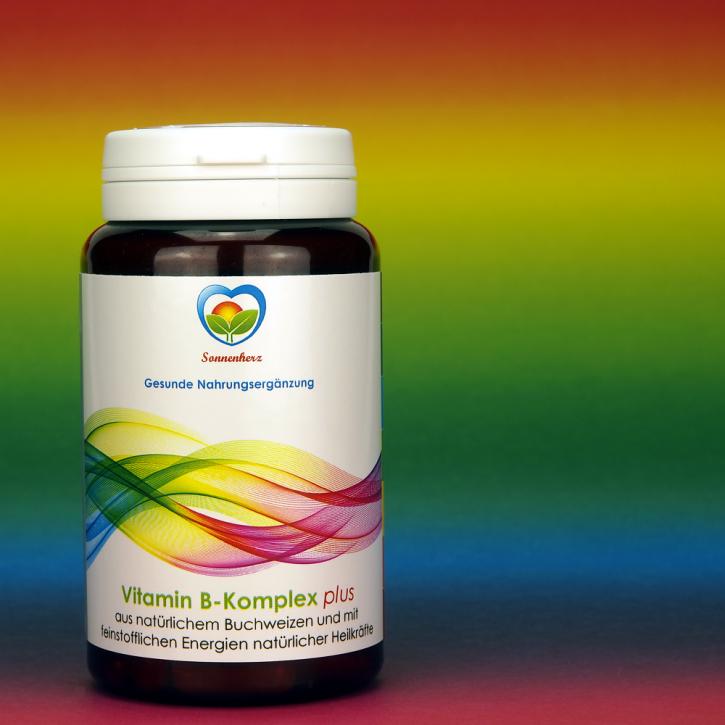 WELTNEUHEIT: Vitamin B-Komplex plus Energien natürlicher Heilkräfte - von Sonnenherz - 90 Kapseln