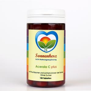 Energetisches Acerola Vitamin C plus Sonnen-Lichtphotonen von Sonnenherz -100 Lutschtabletten