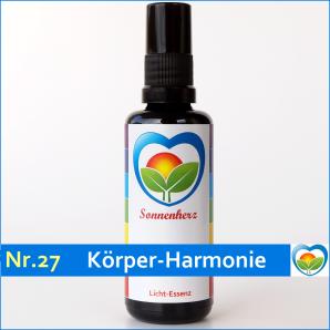 """Lichtessenz Nr. 27 """"Körper-Harmonie"""" Sonnenherz Aura Spray"""