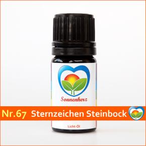 """Sonnen-energetisches Lichtöl Nr. 67 """"Sternzeichen Steinbock"""" von Sonnenherz"""